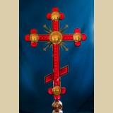 Крест с фацетированными элементами и подсветкой