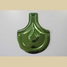 Металочерепица с зеленым напылением